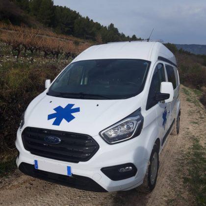 Ambulance Ford Transit Custom  L1H1 et L2H1 AR.France